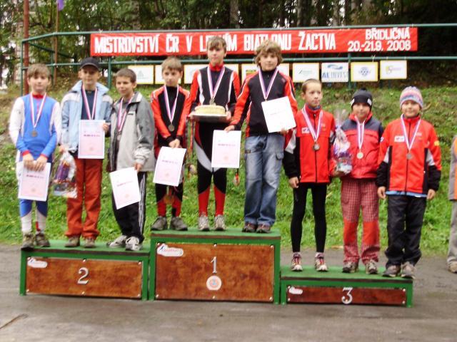 Mistrovství ČR v letním biatlonu  Břidličná 19.-21.9.2008 - štafeta žáci A